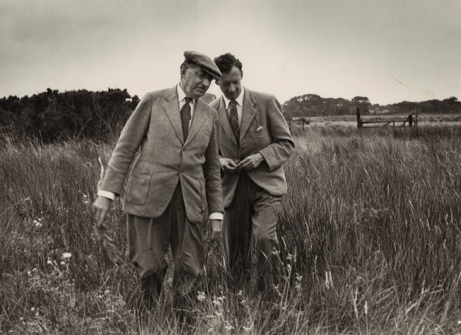 Britten with E M Forster in National Portrait Gallery exhibition