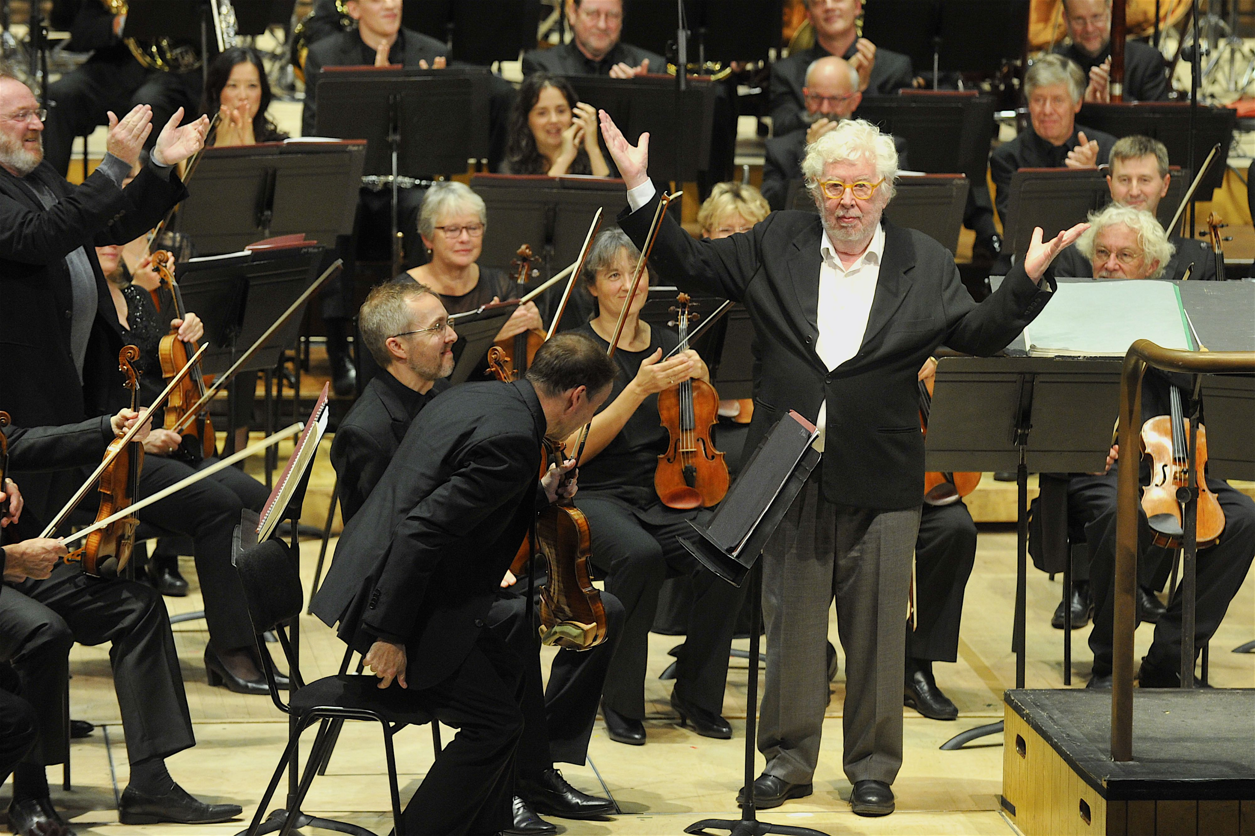 Harrison Birtwistle at the BBC Symphony Orchestra performance of 'Earth Dances'