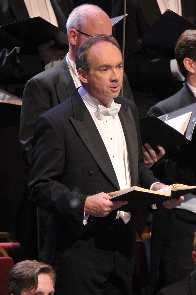 James Gilchrist as the Evangelist in Bach's St John Passion at the BBC Proms 2014. Photo: Chris Christodoulou