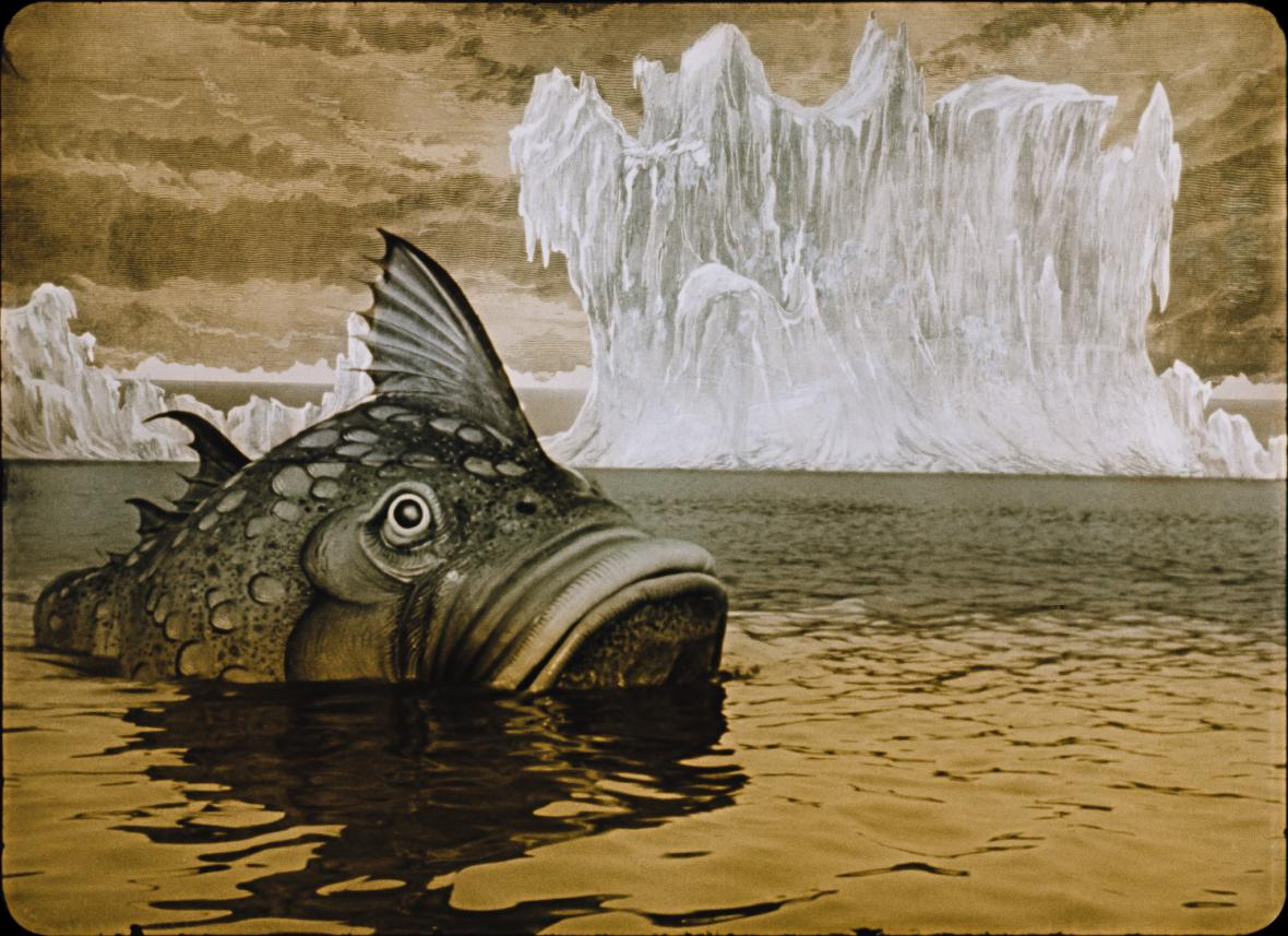 The giant fish in Zeman's Baron Munchausen