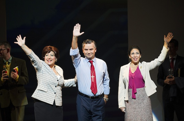 Sarah Pring as Marthe, Marcin Bronikowski as Valentin and Juanita Lascarro as Marguerite