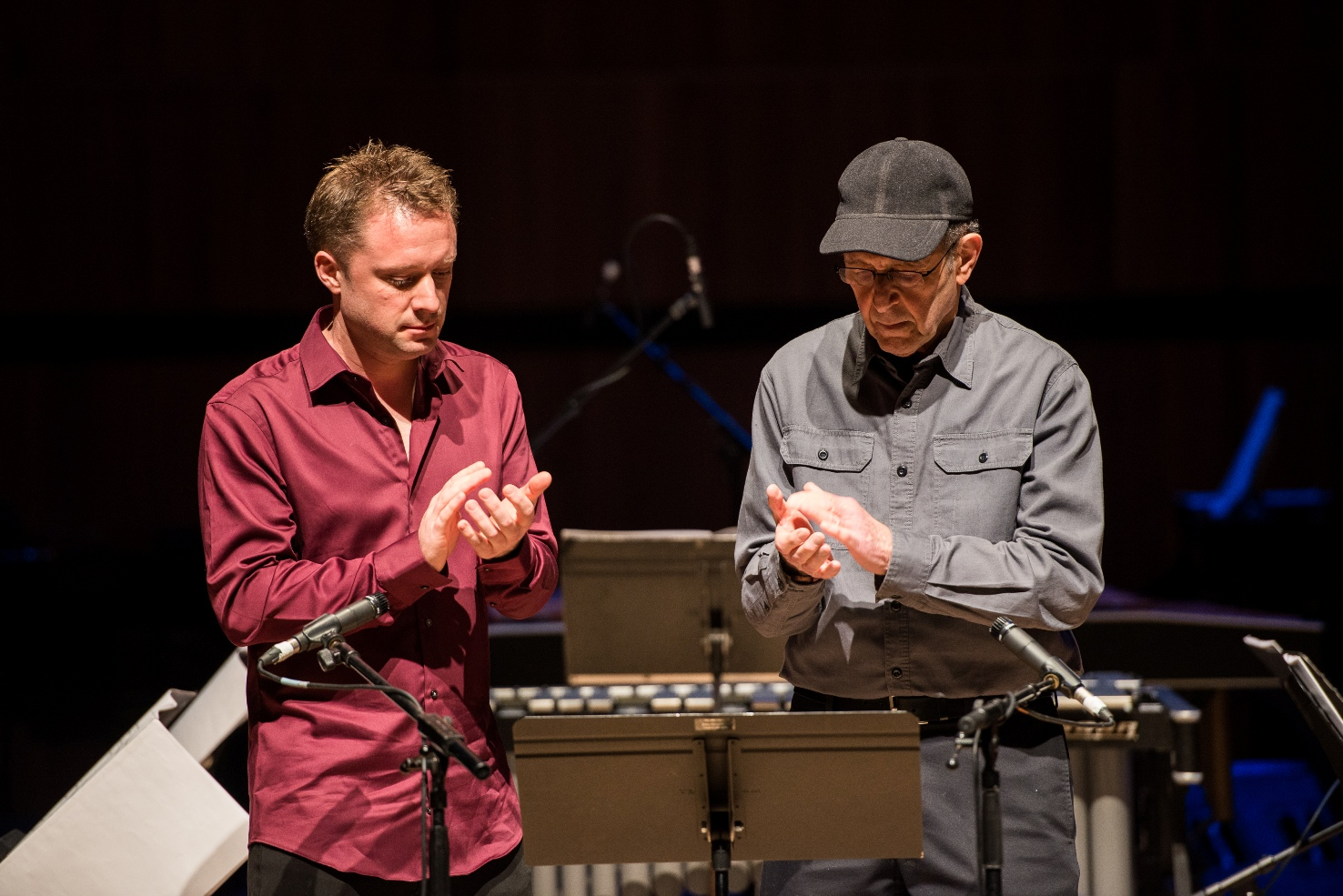 Colin Currie and Steve Reich clapping