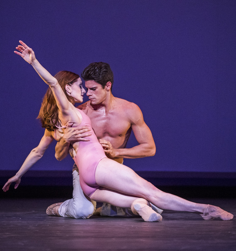 Marianela Nuñez and Thiago Soares in Christopher Wheeldon's 'After the Rain' at the Royal Ballet. Photo by Tristram Kenton.