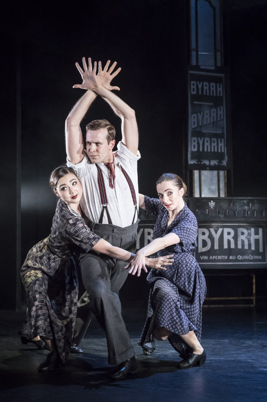 Mari Kamata, Edwin Rae and Sophie Hurley in 'The Infernal Galop' by Matthew Bourne. Photo by Johan Persson.