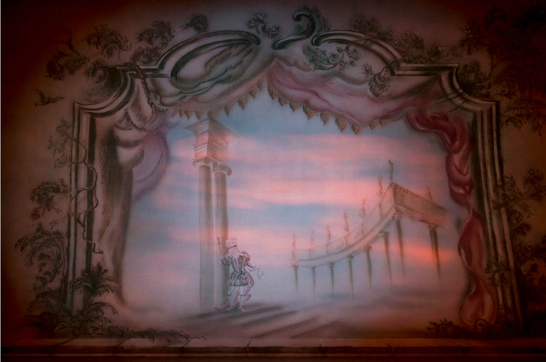 The front cloth for The Sleeping Beauty