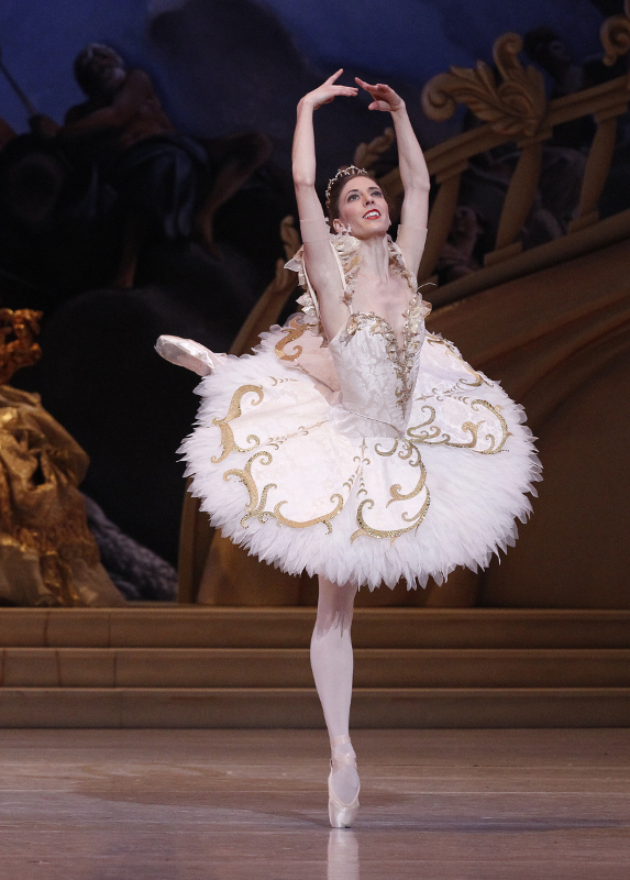 Lana Jones as Aurora in The Australian Ballet's production of 'The Sleeping Beauty'. Photo by Jeff Busby.