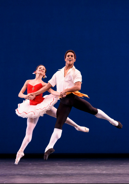 Francesca Hayward and Marcelino Sambé in George Balanchine's Tarantella. Photo by Bill Cooper.