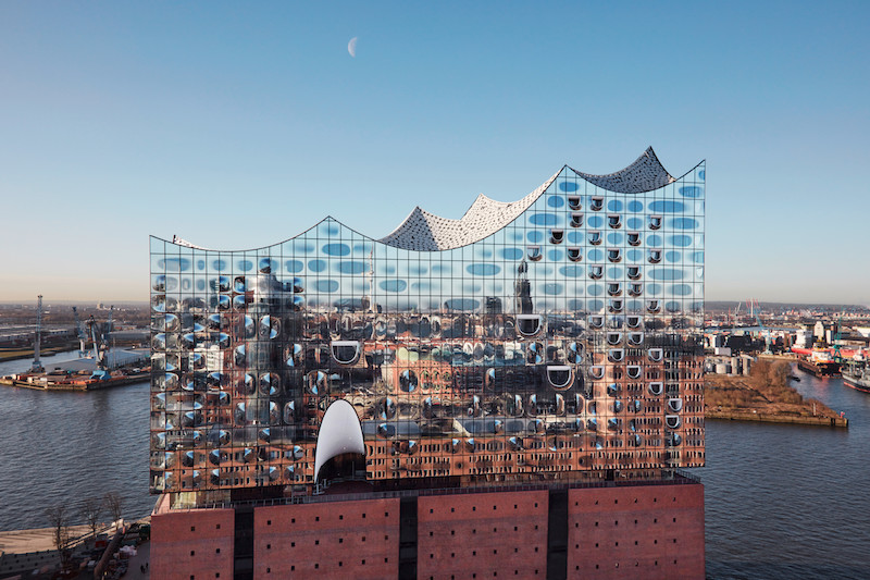 north side of the Elbphilharmonie in Hamburg