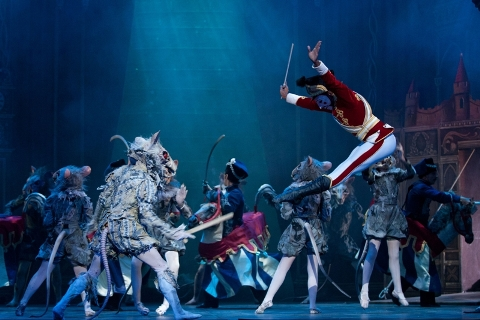 James Streeter as Mouse King and Max Westwell as Nutcracker