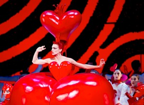Zenaida Yanowsky as the Queen of Hearts in the Royal Ballet Alice's Adventures in Wonderland