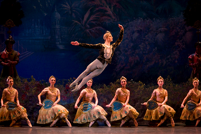Polunin in Royal Ballet Bayadere, costumes designed by Yolanda Sonnabend