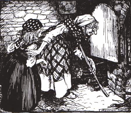 rackham gretel and witch 1909