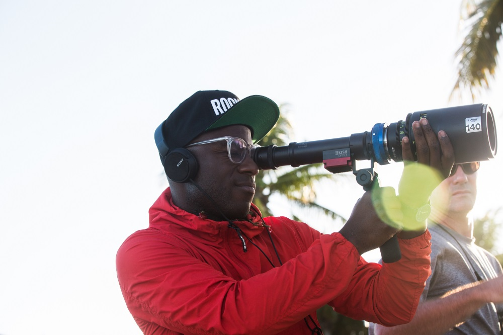 Barry Jenkins on set filming Moonlight