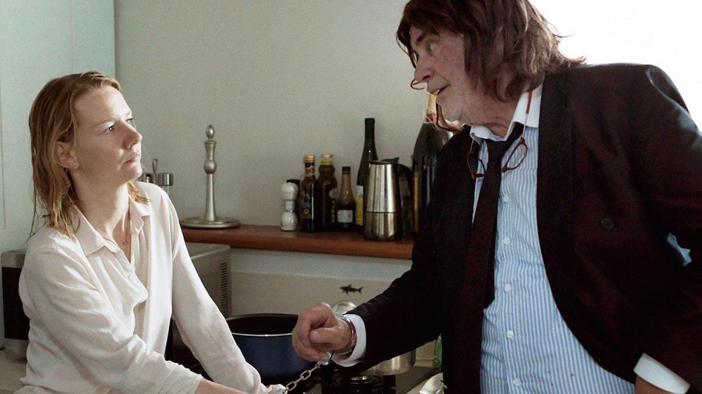 Peter Simonischek and Sandra Hüller in Toni Erdmann