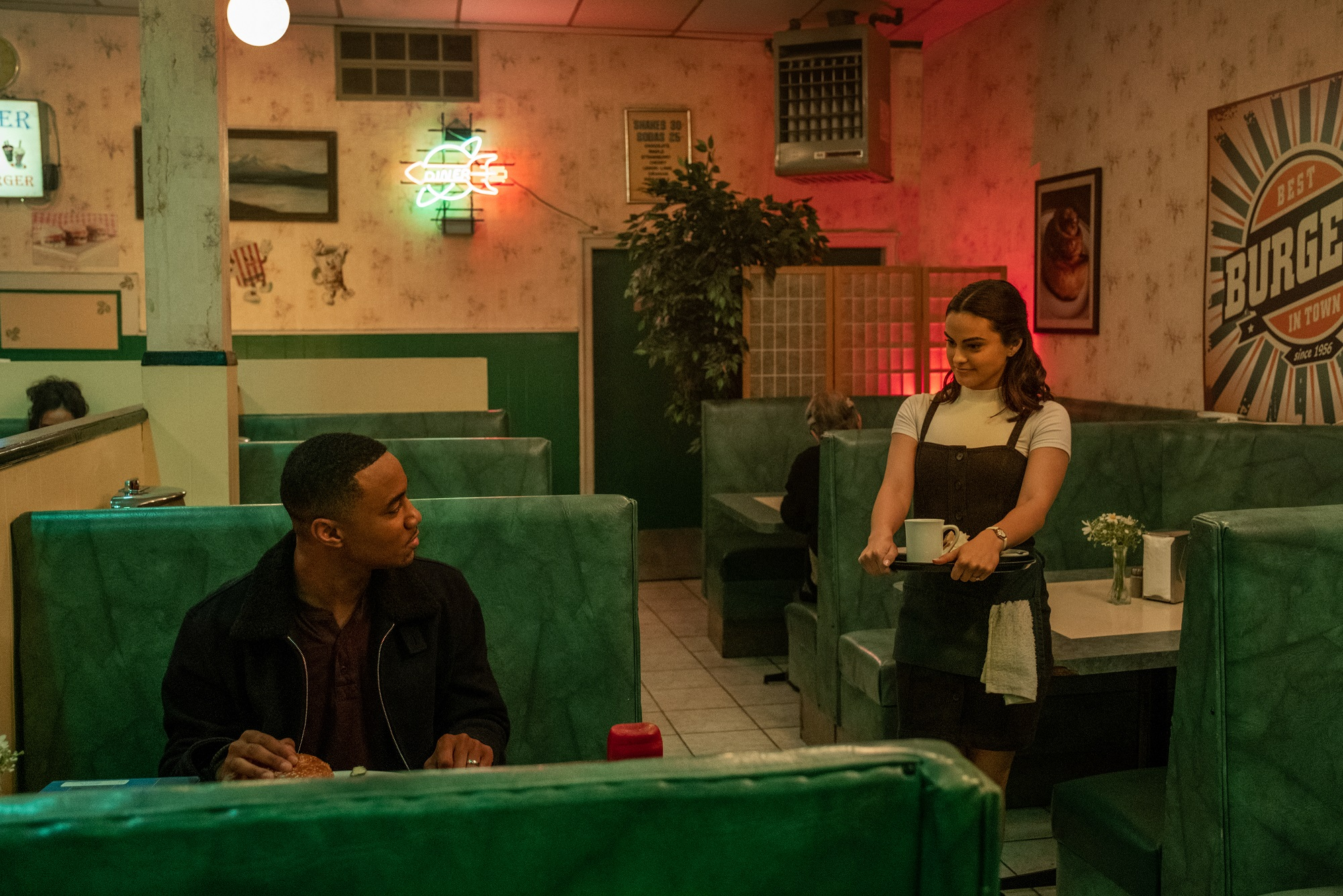 Adam (Jessie T. Usher) and Katie (Camila Mendes) in Dangerous Lies