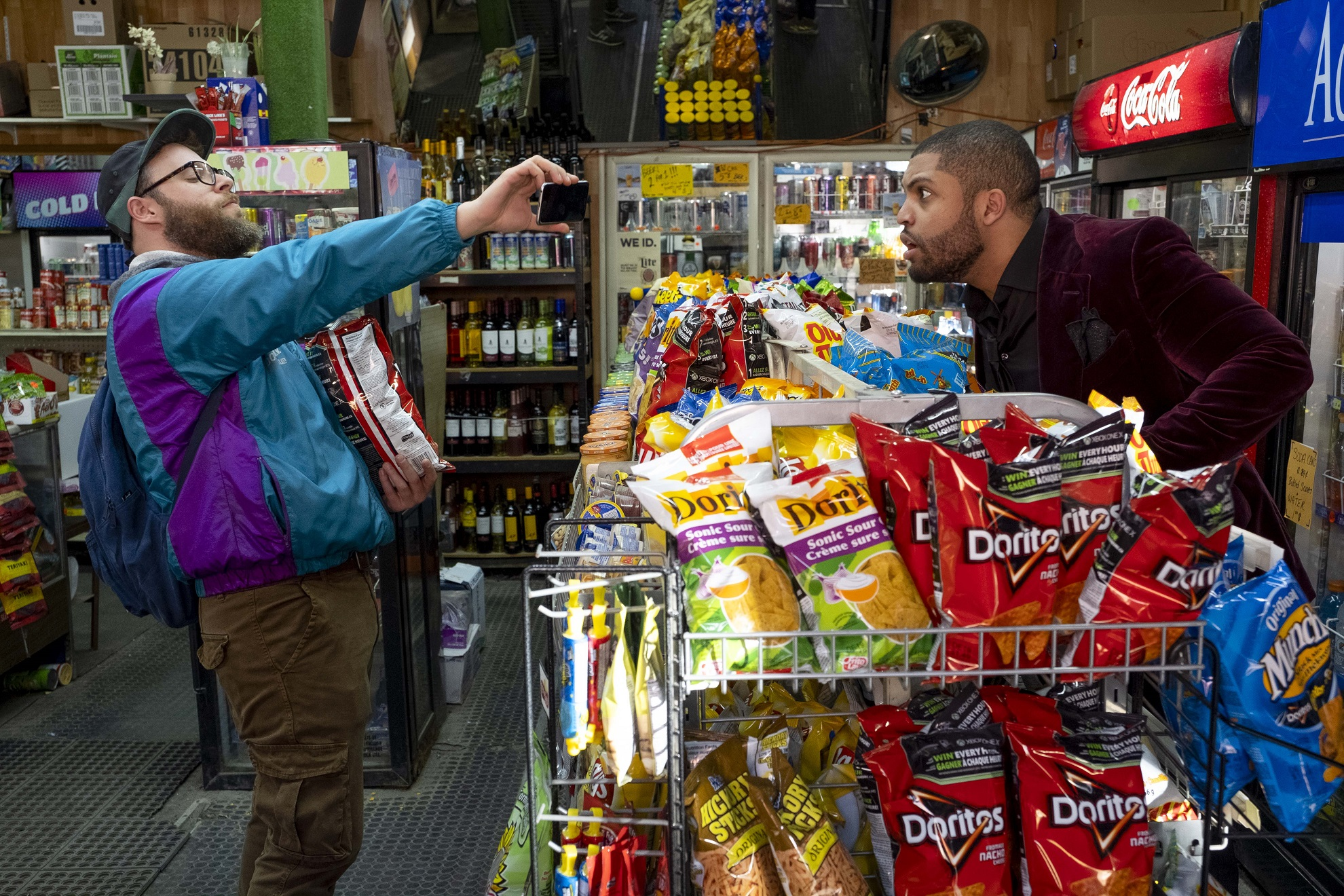 O'Shea Jackson Jr. and Seth Rogen in Long Shot