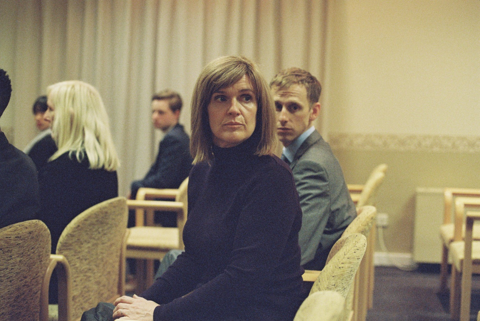 Siobhan Finneran and Robert Emms in Apostasy
