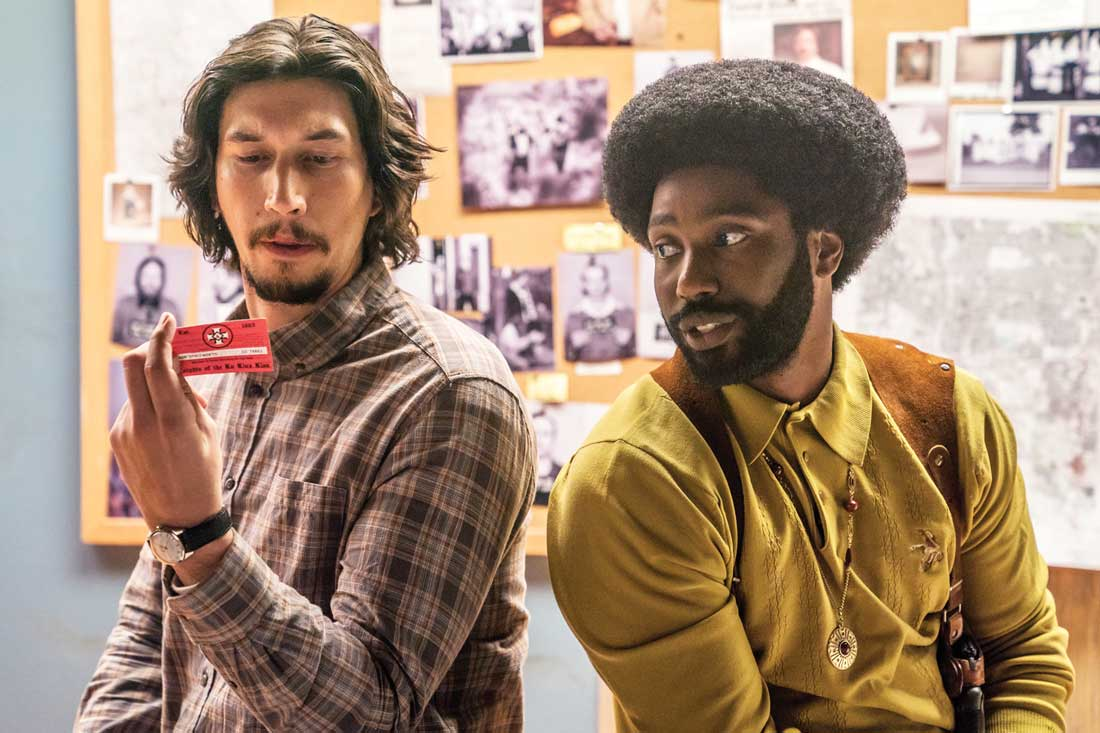 Flip Zimmerman (Adam Driver) and Ron Stallworth (John David Washington)
