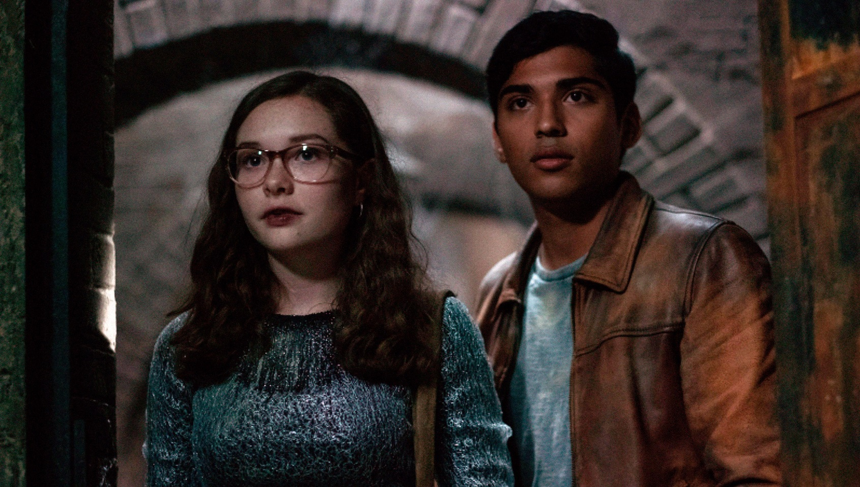 Stella (Zoe Colletti) and Ramon (Michael Garza) in Scary Stories to Tell in the Dark
