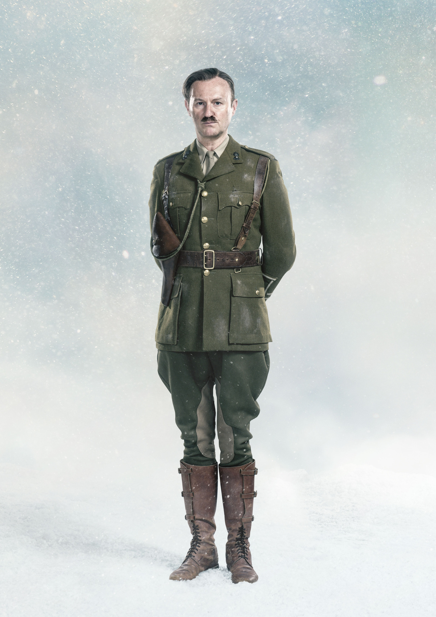 Mark Gatiss as Captain Lethbridge-Stewart in Doctor Who: Twice Upon a Time