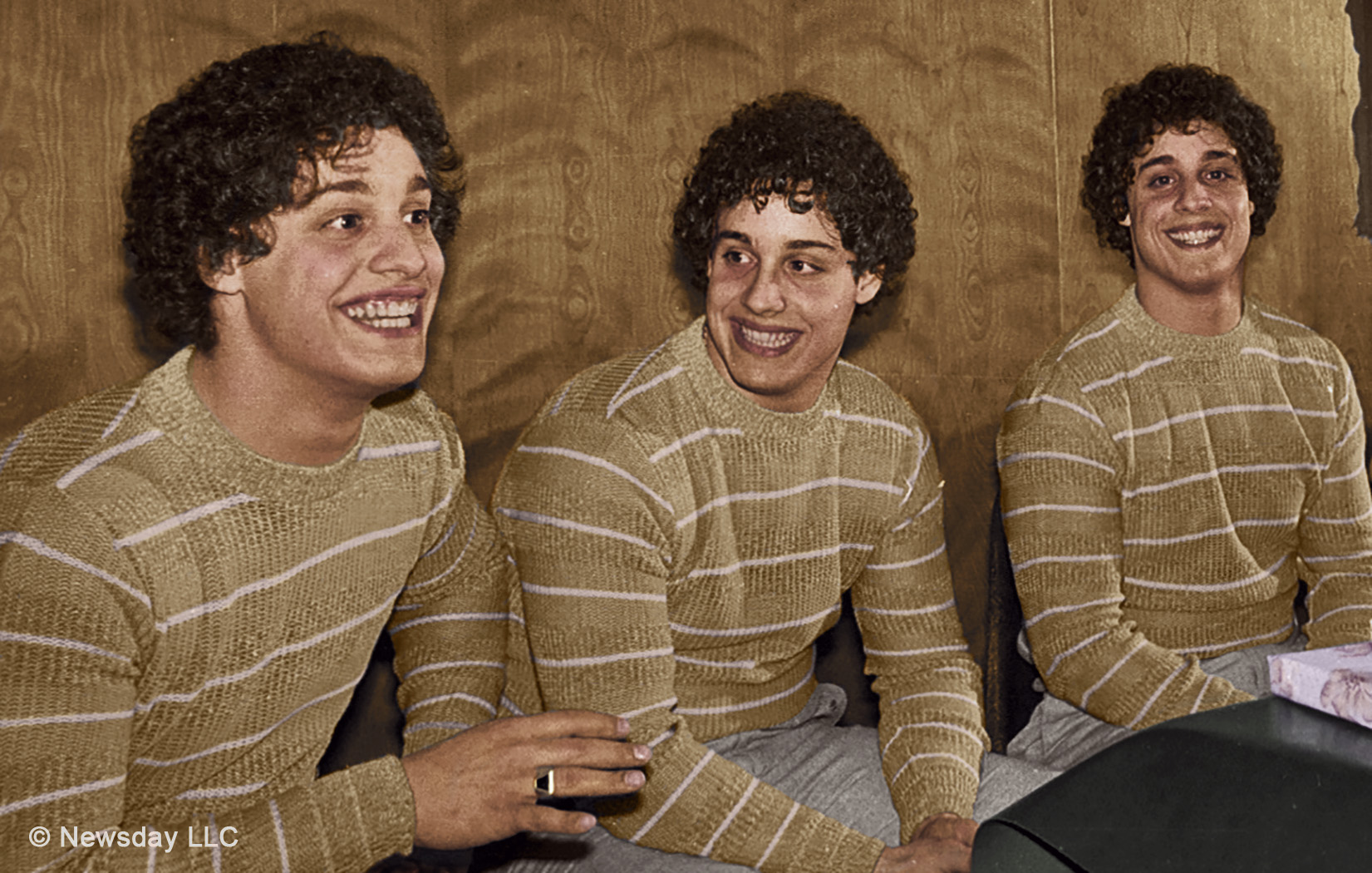Eddy, Bobby and David from Three Identical Strangers