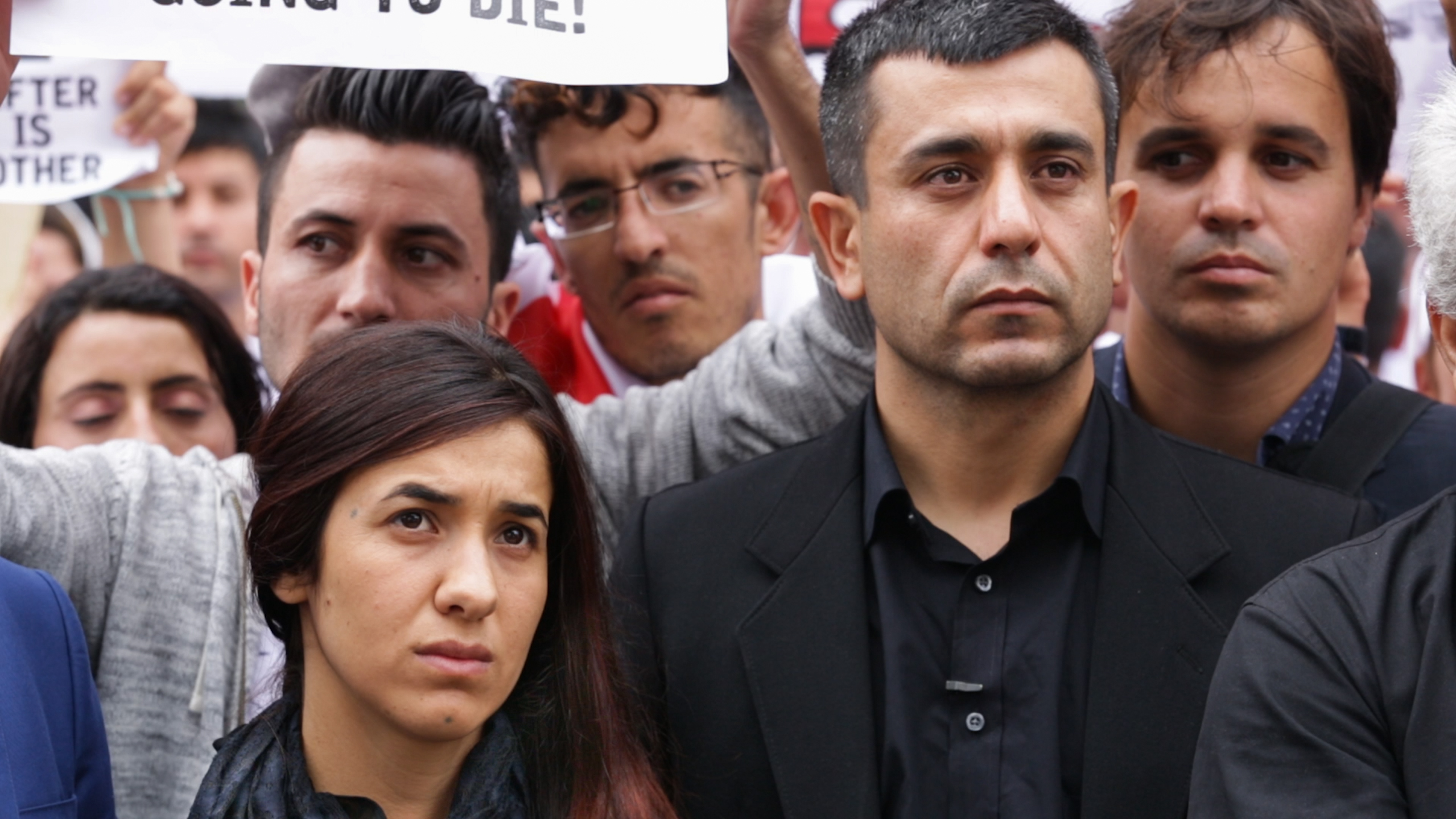 Nadia Murad and Murad Ismael in On Her Shoulders