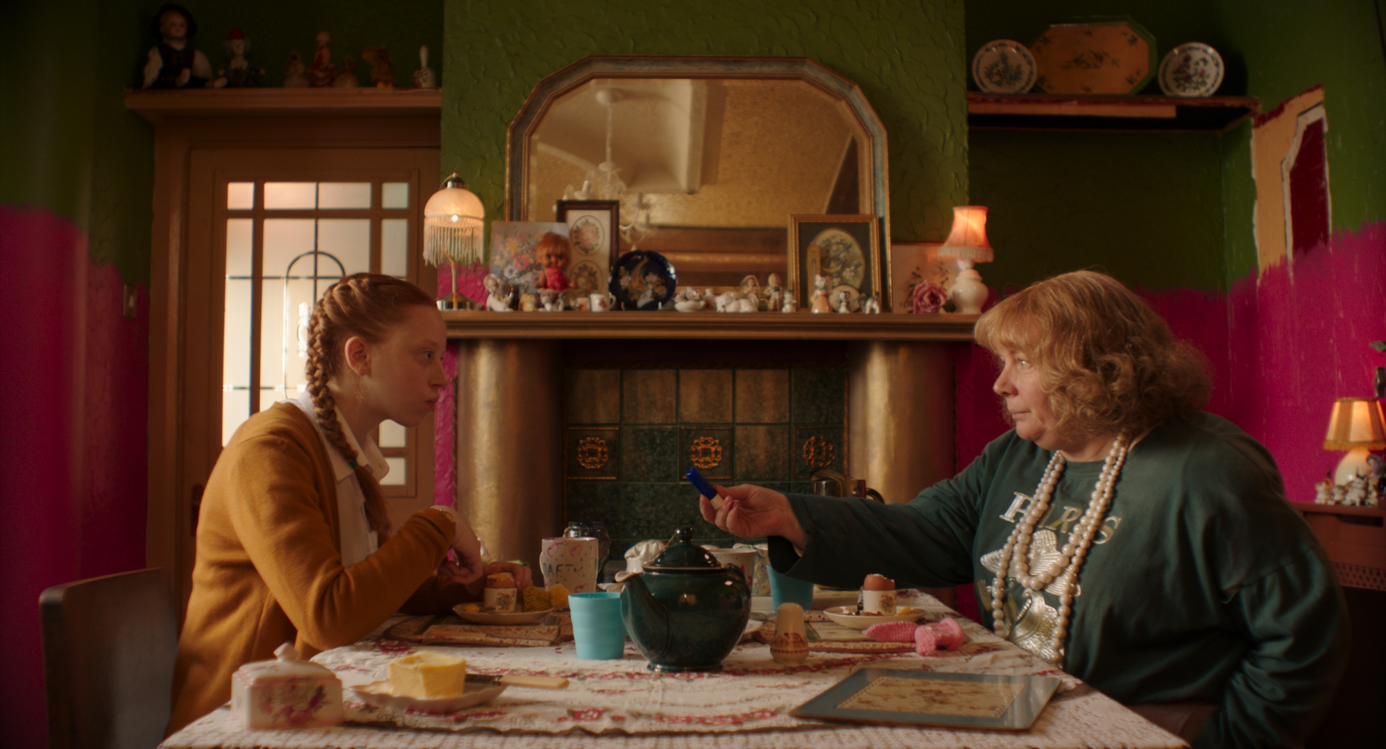 Joanna Scanlan and Lily Newman in Pin Cushion