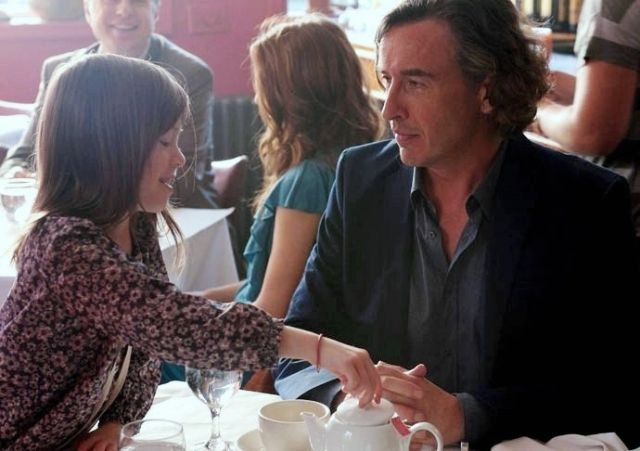 Onata Aprile and Steve Coogan in What Maisie Knew