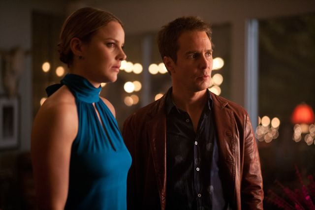 Abbie Cornish and Sam Rockwell in Seven Psychopaths