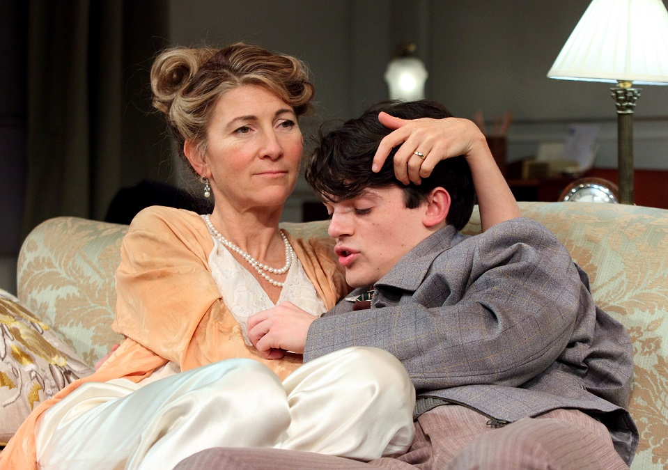 Eve Best, Edward Bluemel in Love in Idleness, Menier Chocolate Factory