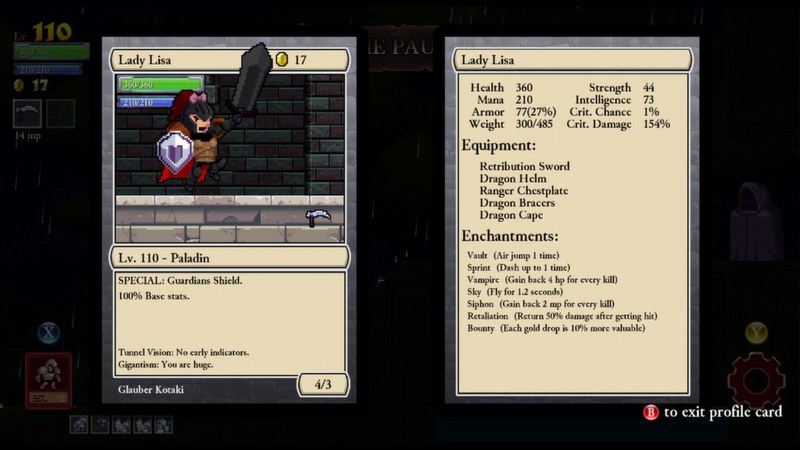 Rogue Legacy - roguelike with a genealogical twist