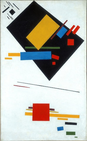 Kazimir Malevich, Suprematist Painting (with Black Trapezium and Red Square), 1915