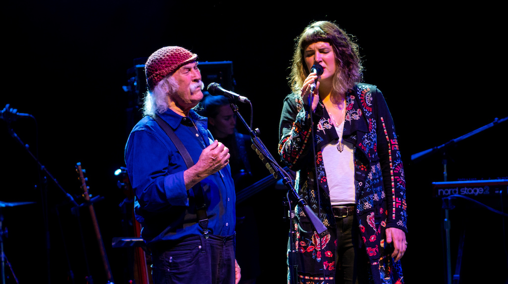 David Crosby and Michelle Willis photo by Raph Pour-Hashemi