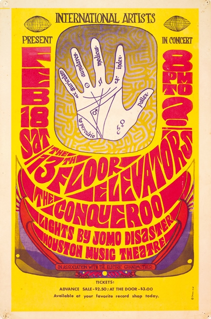 13th Floor Elevators Live Evolution Lost_Houston Msuic Hall poster