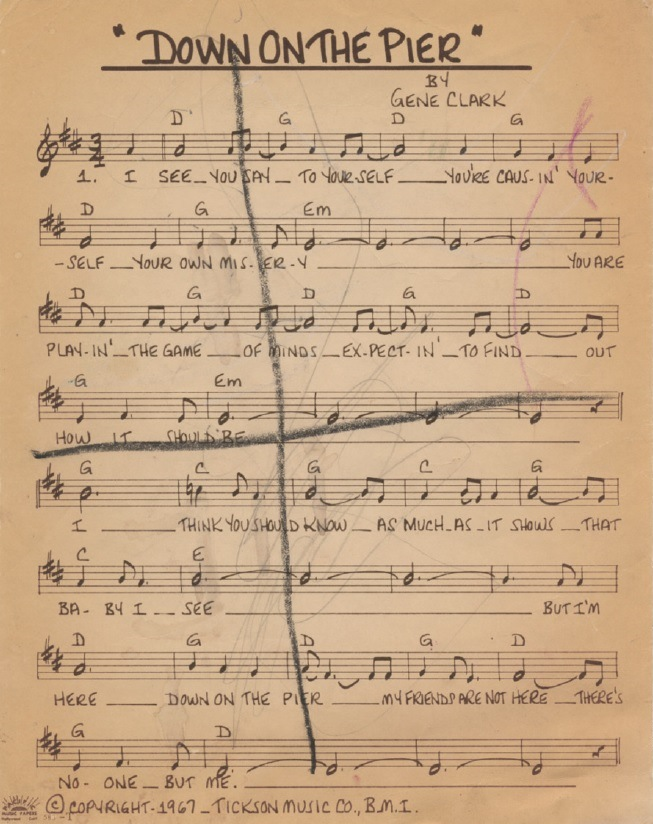Gene Clark Down On The Pier sheet music