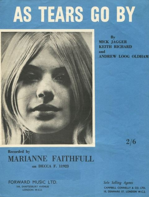 Marianne Faithfull Come and Stay With me – The UK 45s 1964–1969_As Tears Go By songsheet