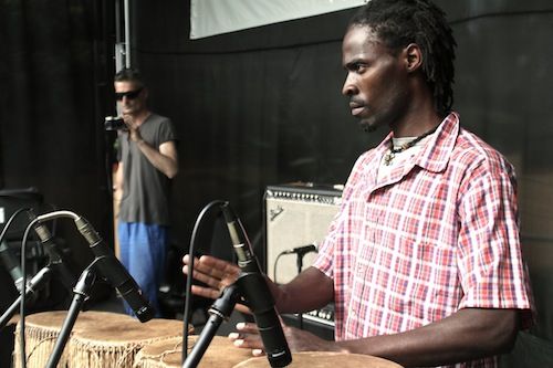 Burnt Friedman and Hakim Kiwanuka in soundcheck