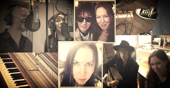 Thea Gilmore with (clockwise from top left) Billy Bragg, John Cooper Clarke, Mike Scott