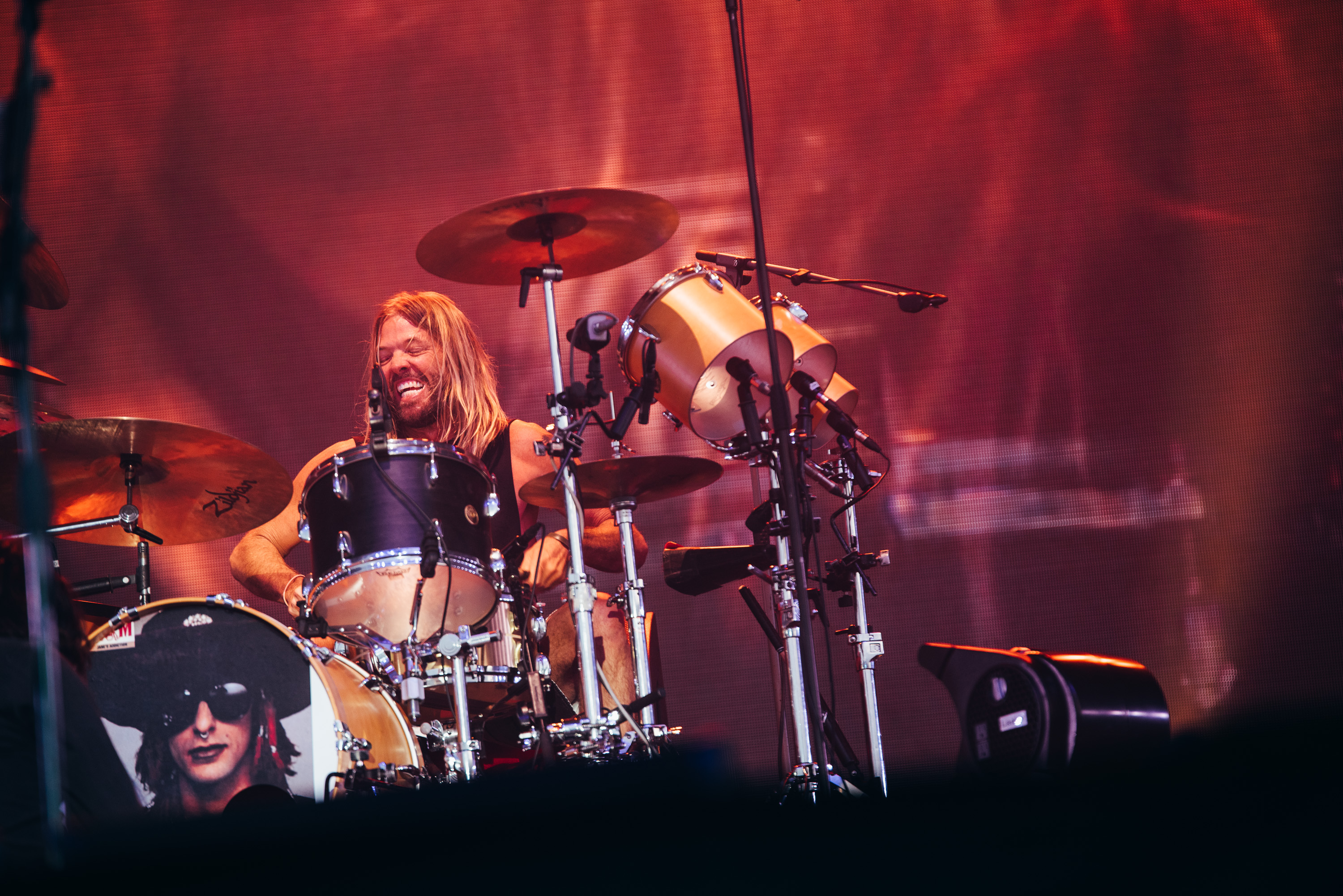 Taylor Hawkins Foo Fighters drummer at Glasgow Summer Sessions by Ryan Johnston