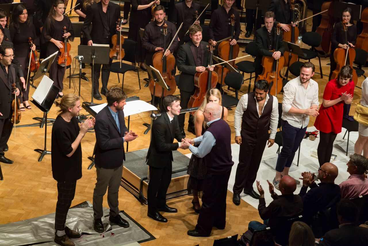Ensemble with George Benjamin pictured at the end of Written on Skin