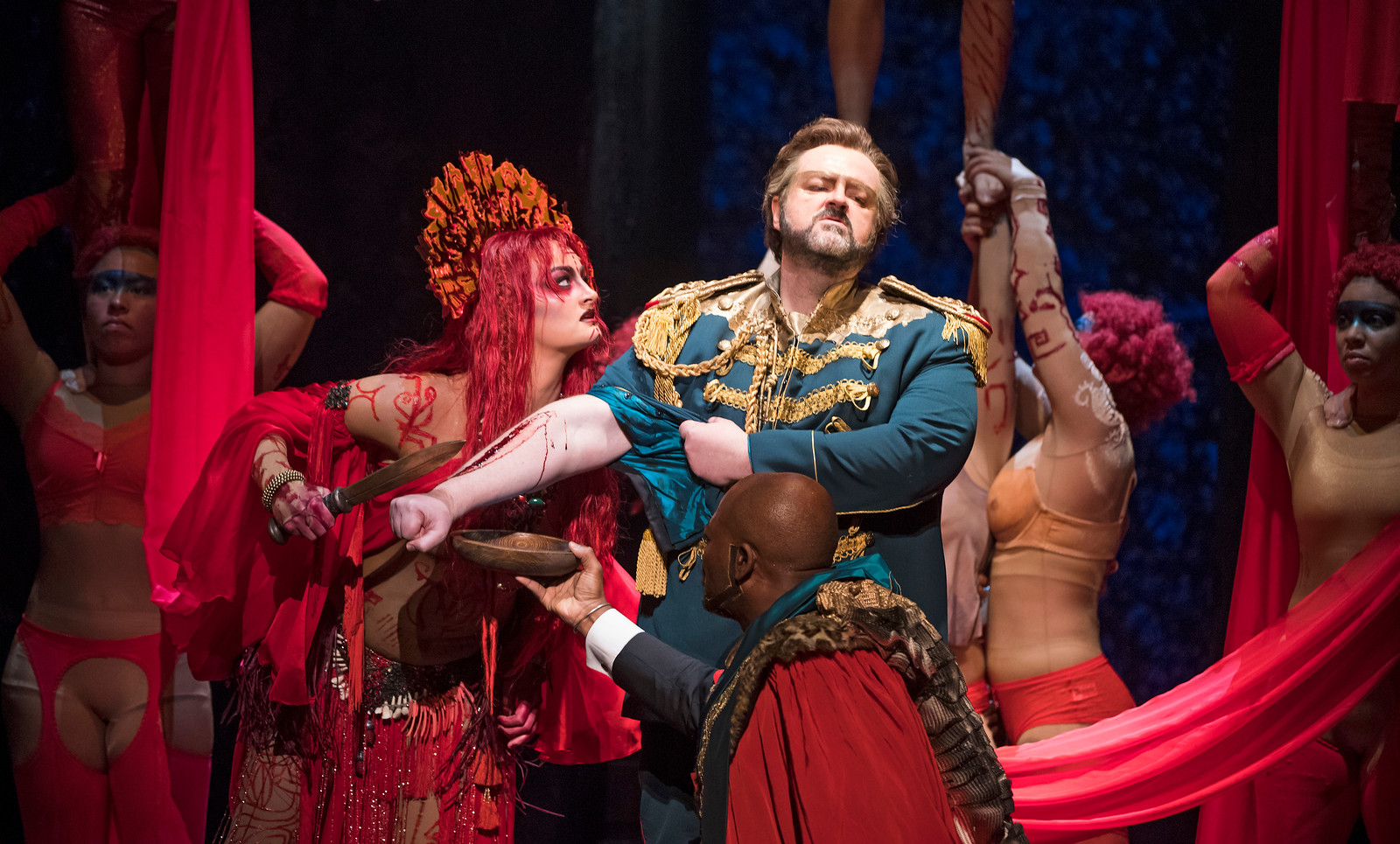Gwyn Hughes Jones as Radames in ENO Aida