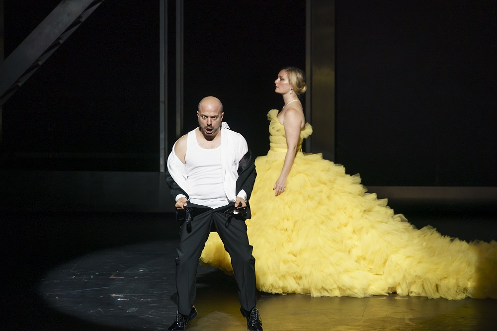 Lucy Crowe and Gianluca Buratto in Agrippina
