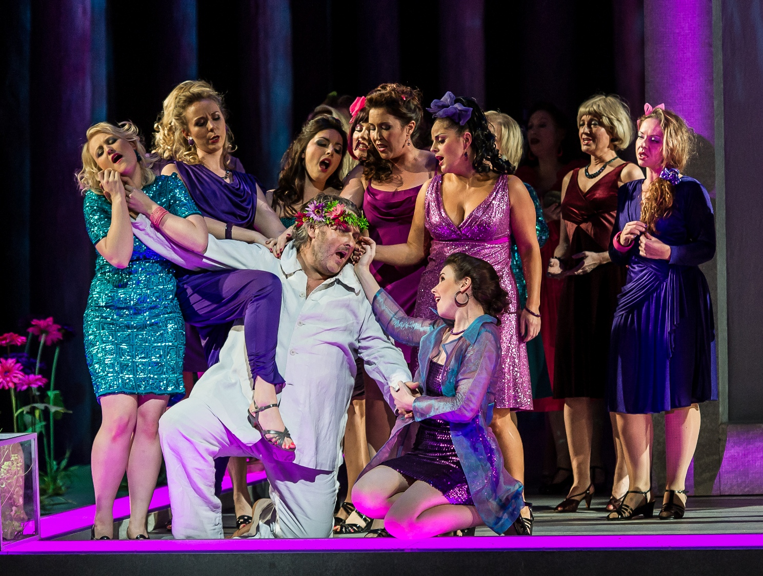 Flowermaidens and Parsifal in Royal Opera Parsifal pictured by Clive Barda