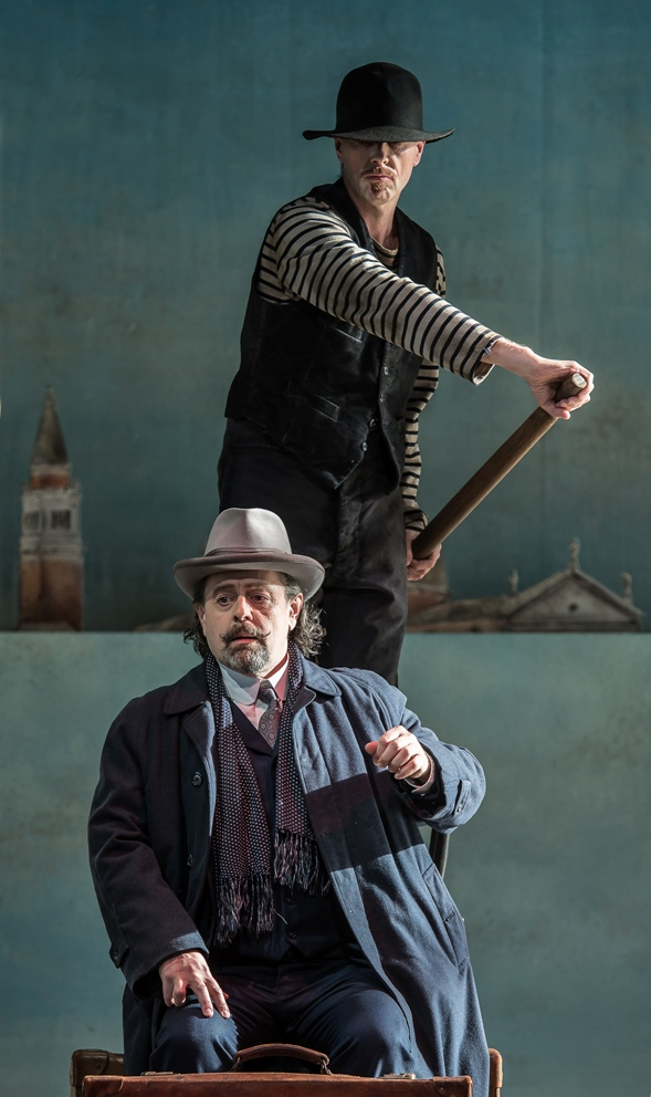 Paul Nilon and William Dazeley in Garsington's Death in Venice