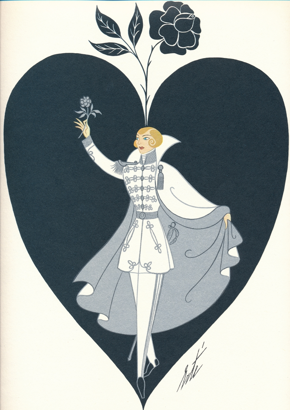Erte Rosenkavalier cover for Glyndebourne 1980