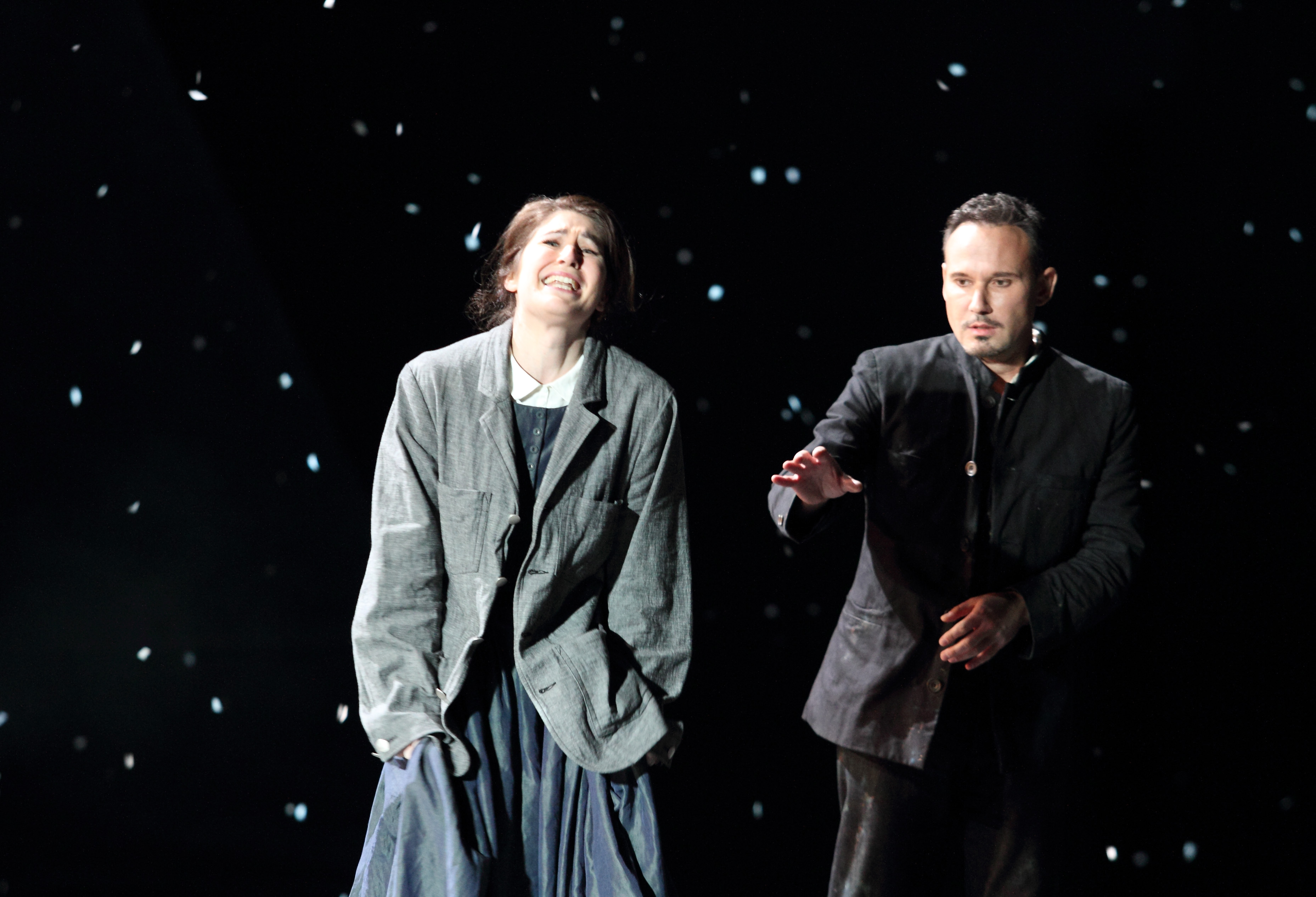 Nicole Car and Marius Kwiecien in Act 3 of La Boheme