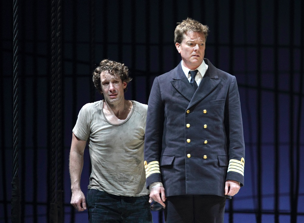 Jacques Imbrailo and Toby Spence in Royal Opera Billy Budd