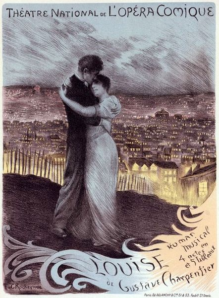 Poster for Charpentier's Louise