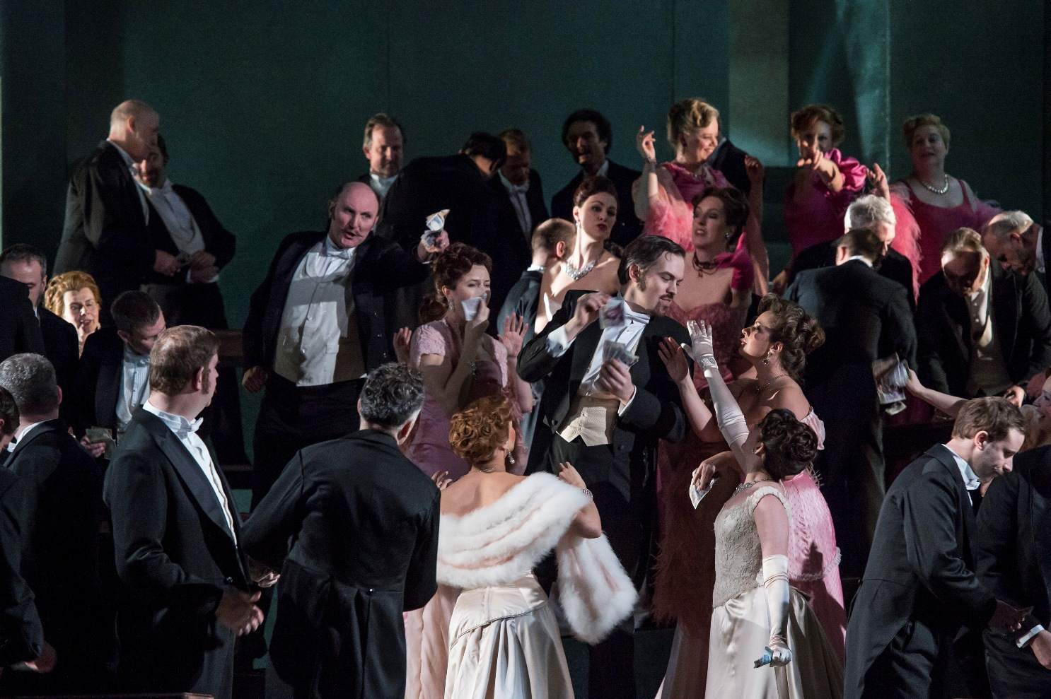 Scene from Massenet's Manon by Bill Cooper for the Royal Opera