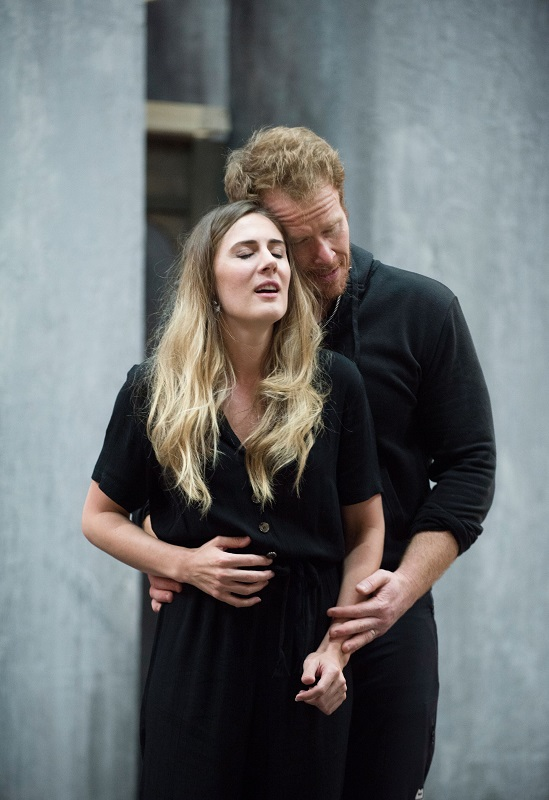 Sydney Mancasola and Duncan Rock in Breaking the Waves rehearsal